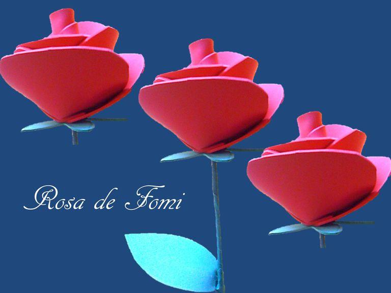 Como hacer una rosa de fomi con los ni os - Como secar una rosa ...