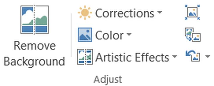 Adjust Image Tools In Microsoft Word 2013