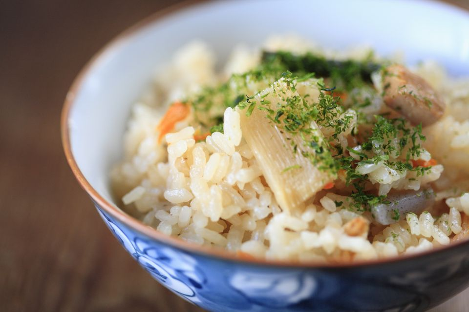 Takikomi Gohan (Japanese Seasoned Rice with Vegetables and Chicken)