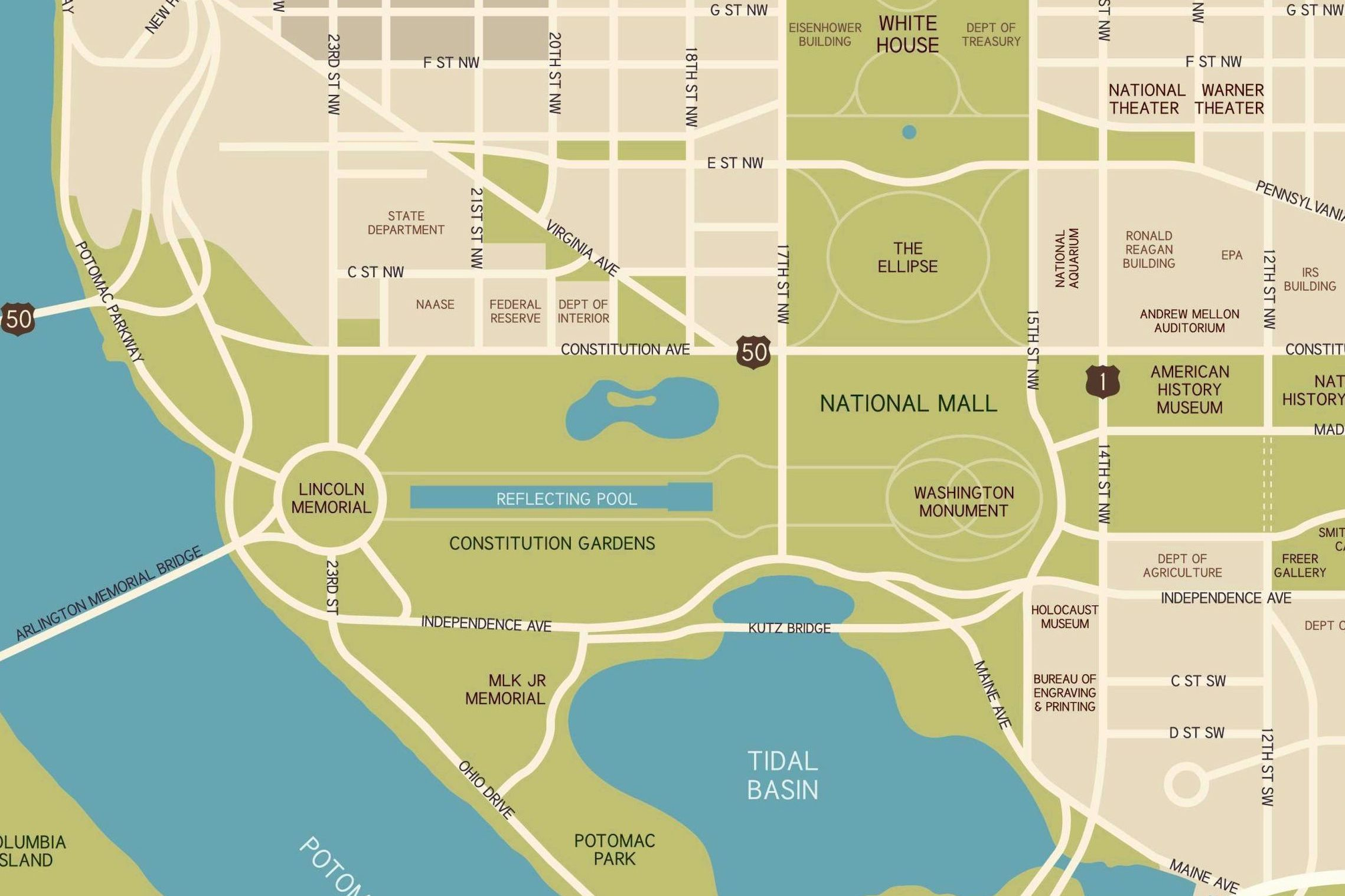. national mall maps directions parking and more