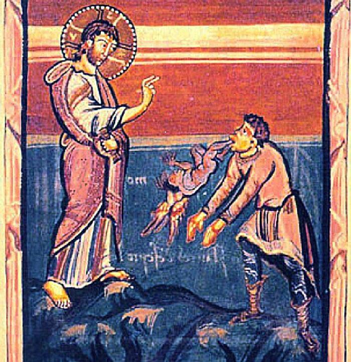 Jesus demon possessed mute man speaking