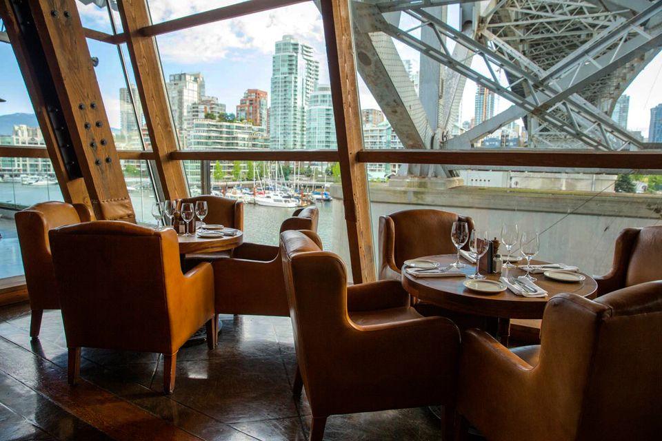 Vancouver waterfront dining at Sandbar restaurant