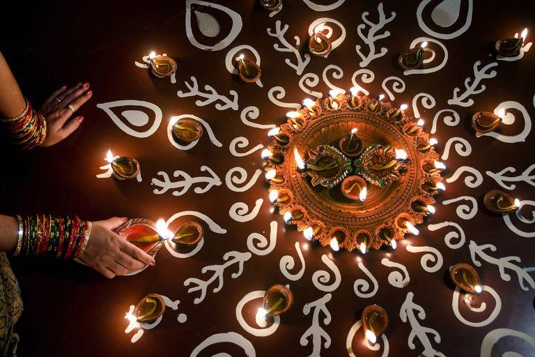 Diwali oil lamps