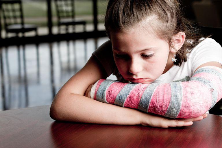 Little Girl with Broken Arm