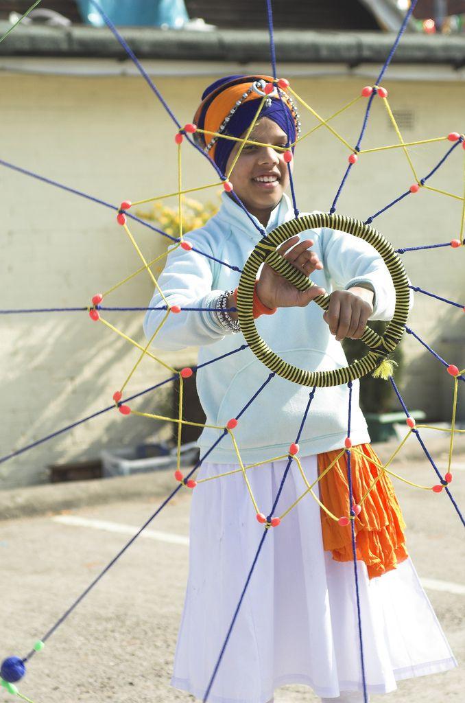 A demonstration of Gatka, the Sikh martial art.