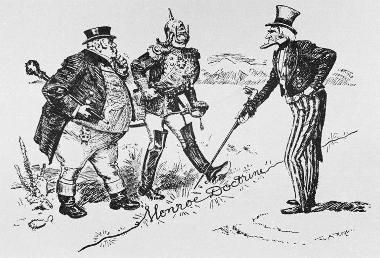 Caricatura perteneciente a la Doctrina Monroe