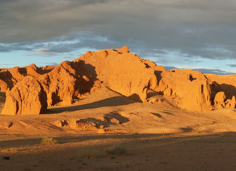 The Flaming Cliffs of Mongolia