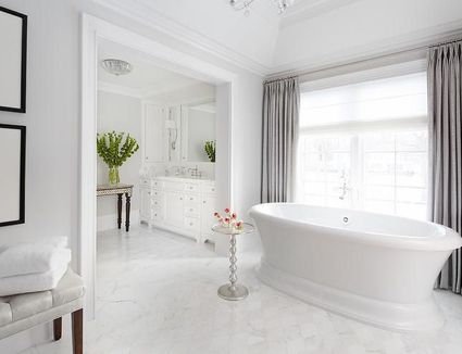 17 classic gray and white bathrooms - Bathroom Tiles Marble