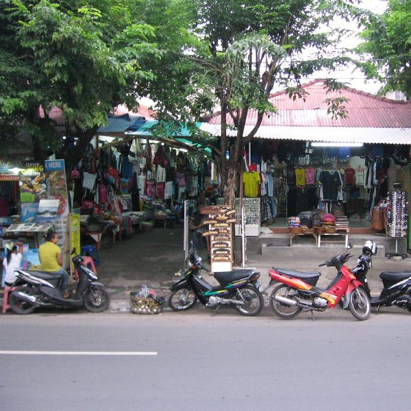 Street shopping along Jalan Kartika Plaza, Tuban, Bali