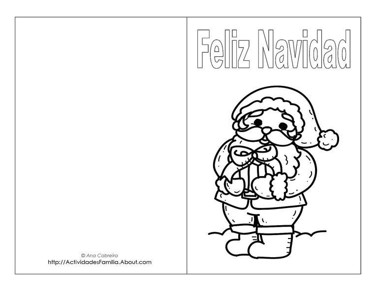 Tarjetas de navidad para imprimir y colorear for Dibujos postales navidad ninos