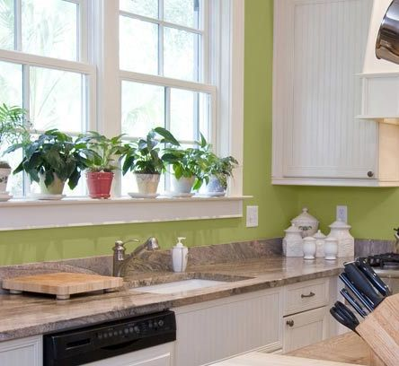 Kitchen wall colors to inspire enlighten and spark ideas for Green paint for kitchen walls