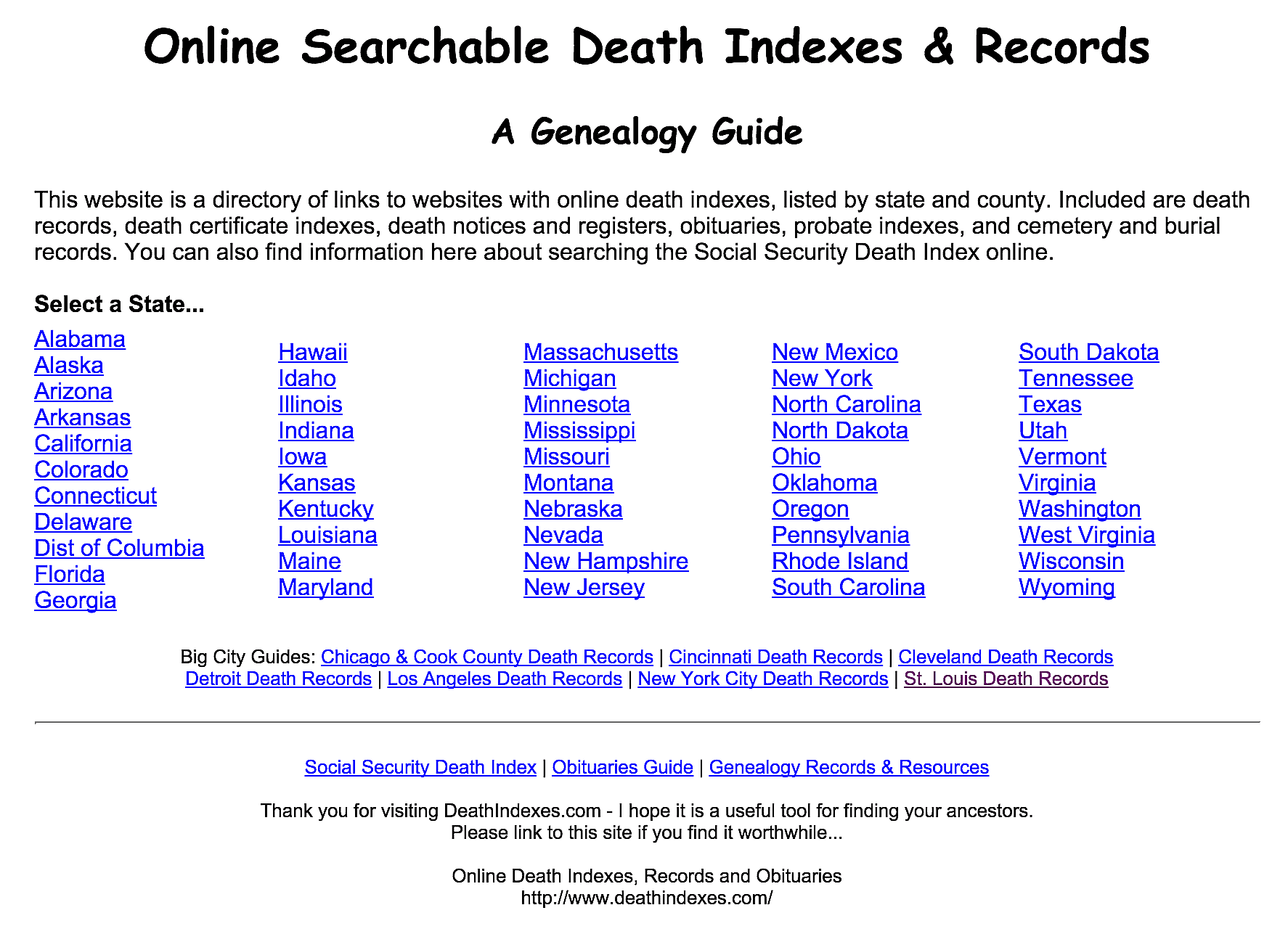 10 places to start your search for online death records 1betcityfo Image collections
