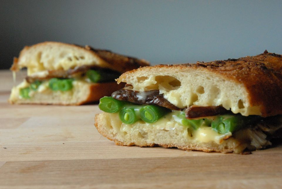 Green Bean Casserole Grilled Cheese