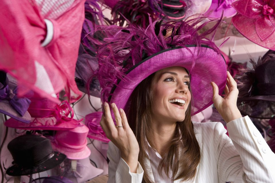 Shopping for a hat, either for Kentucky Oaks and/or Kentucky Derby, is a tradition for many Louisville ladies.