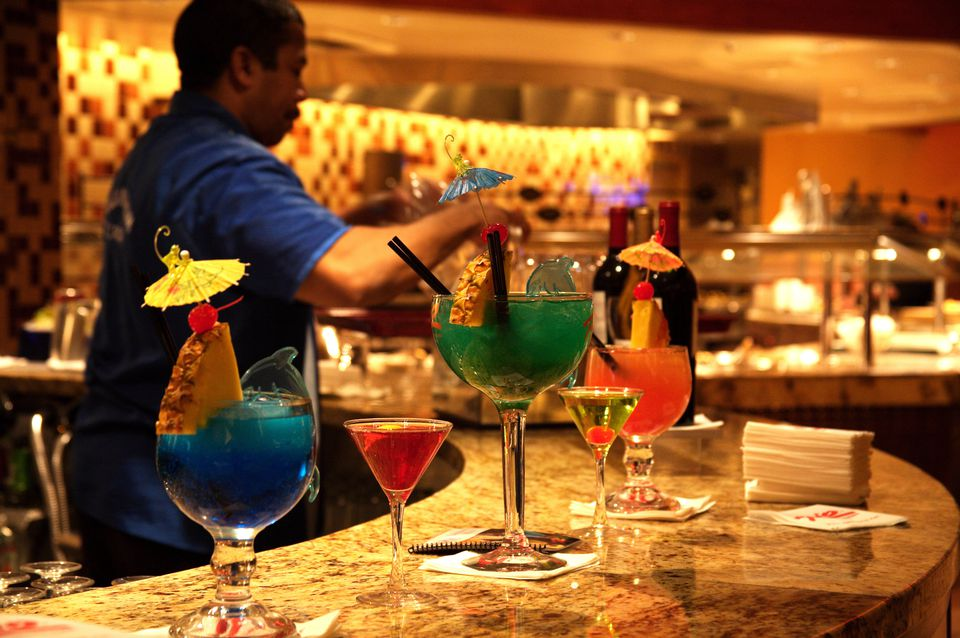Cocktails at Carnival World Buffet, Rio Hotel.