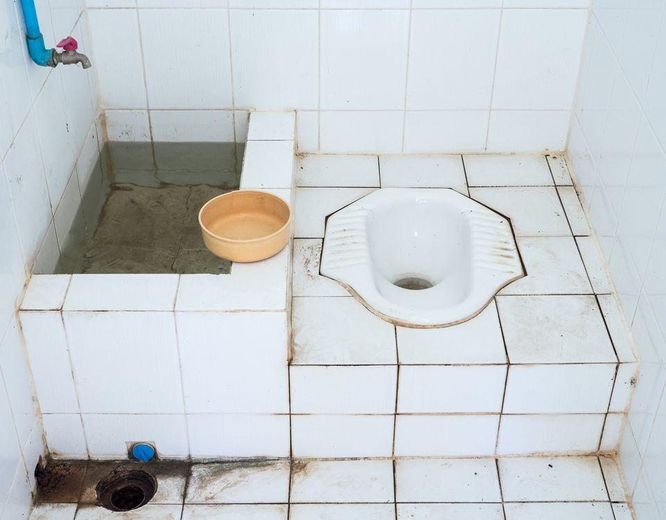 Squat toilet in Thailand