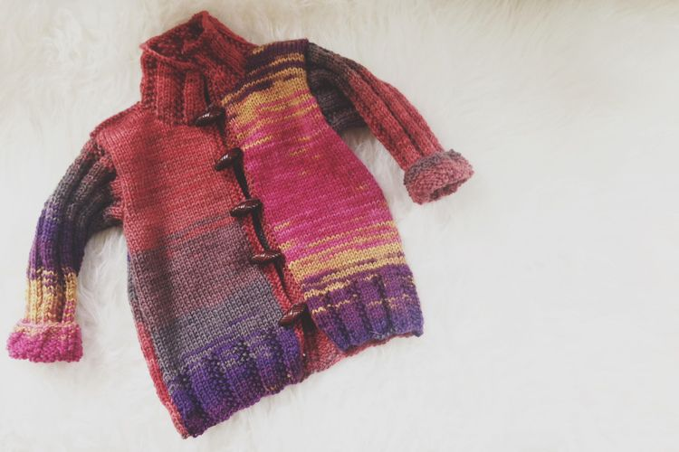 Sweater made from yarn