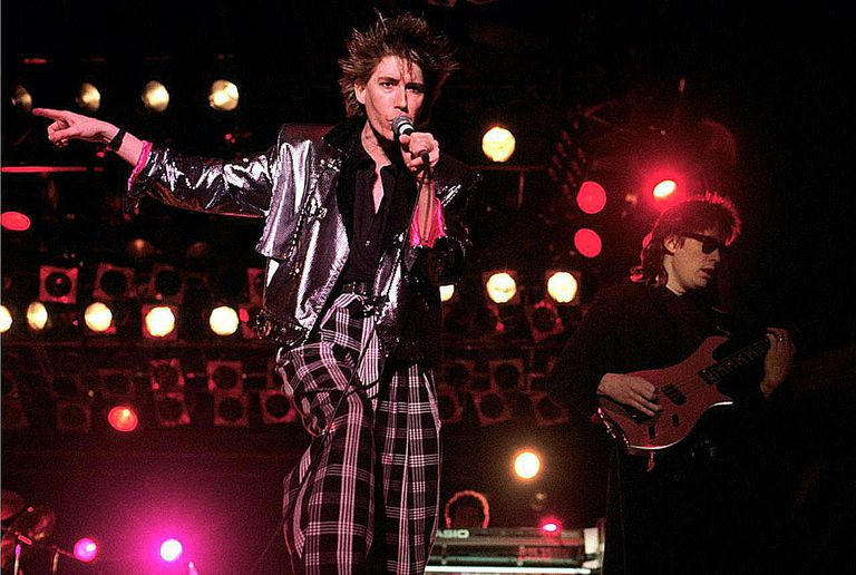 Richard Butler and Tim Butler of Psychedelic Furs perform on stage at Glastonbury Festival, 20th June 1986.