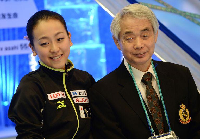 Nobuo Sato (R) and Mao Asada