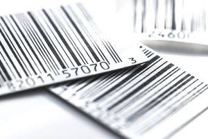 Close up of bar codes, studio shot