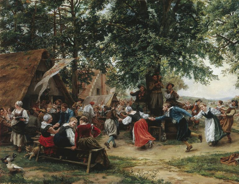 The Village Fete by Jean Charles Meissonier symbolizes Gemeinschaft, or the German word for community that refers to social relationships rooted in tradition in small, rural communities.