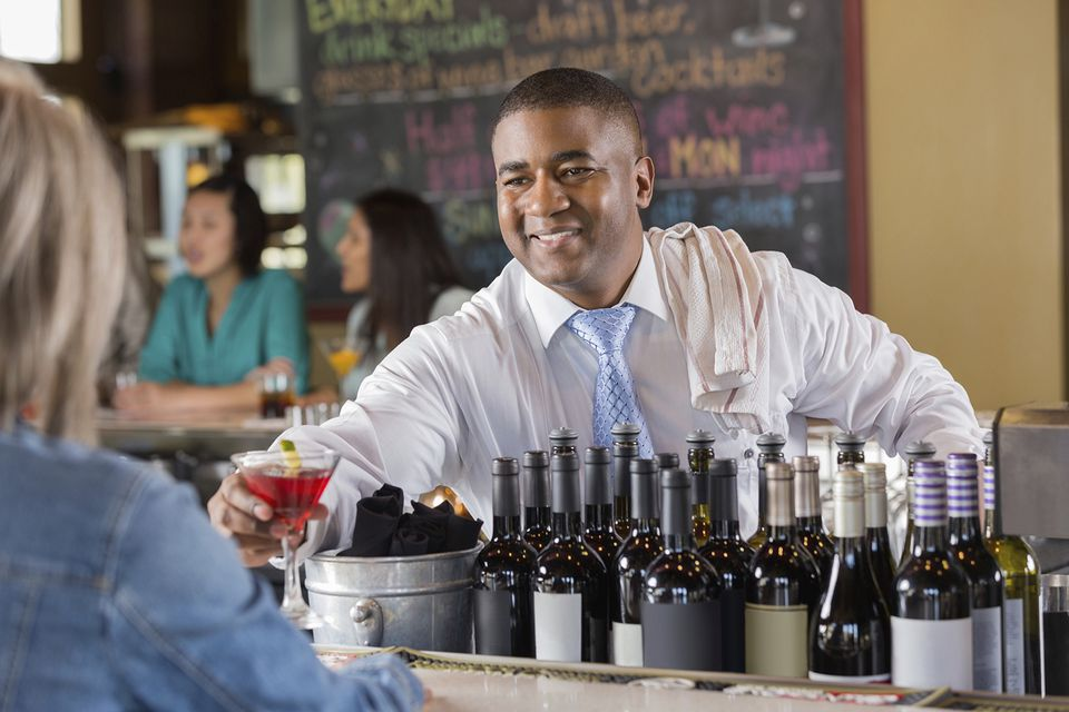 Customer service skills are key to being a great bartender
