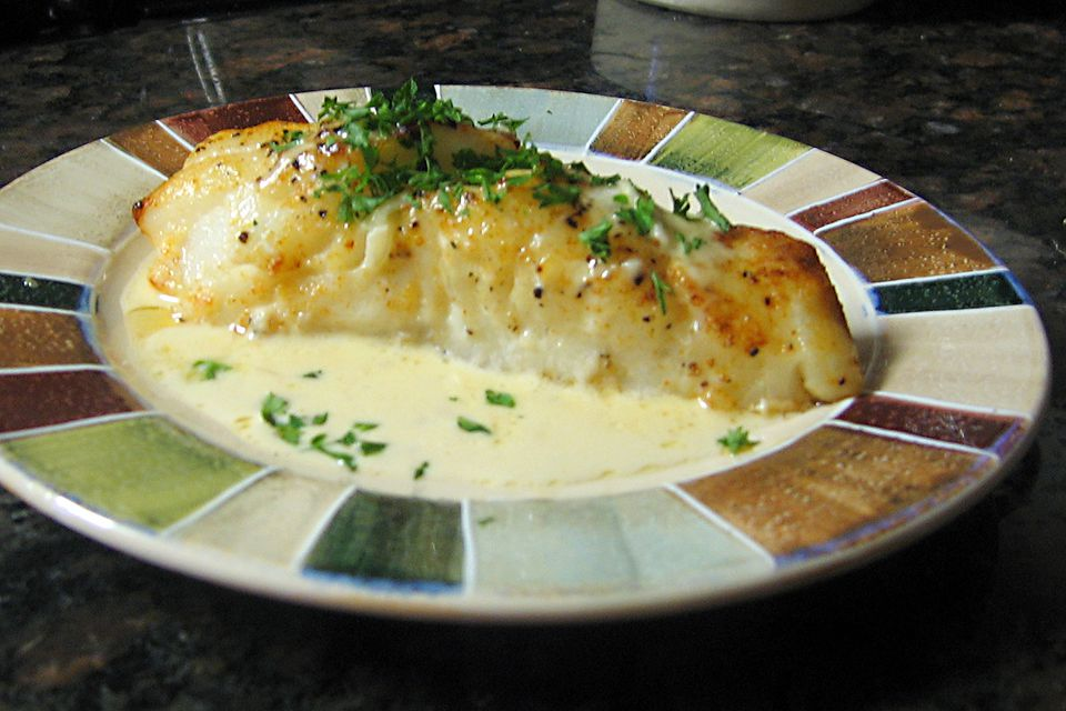 Sea Bass with Sherry Cream Sauce