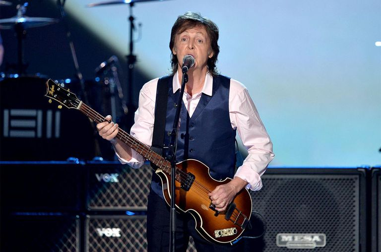 Recording artist Paul McCartney performs onstage during 'The Night That Changed America: A GRAMMY Salute To The Beatles'
