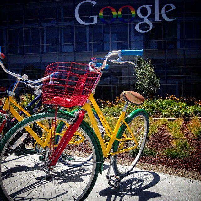 Bikes at Google Headquarters