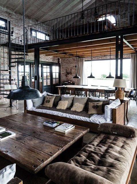 Modern farmhouse style loft