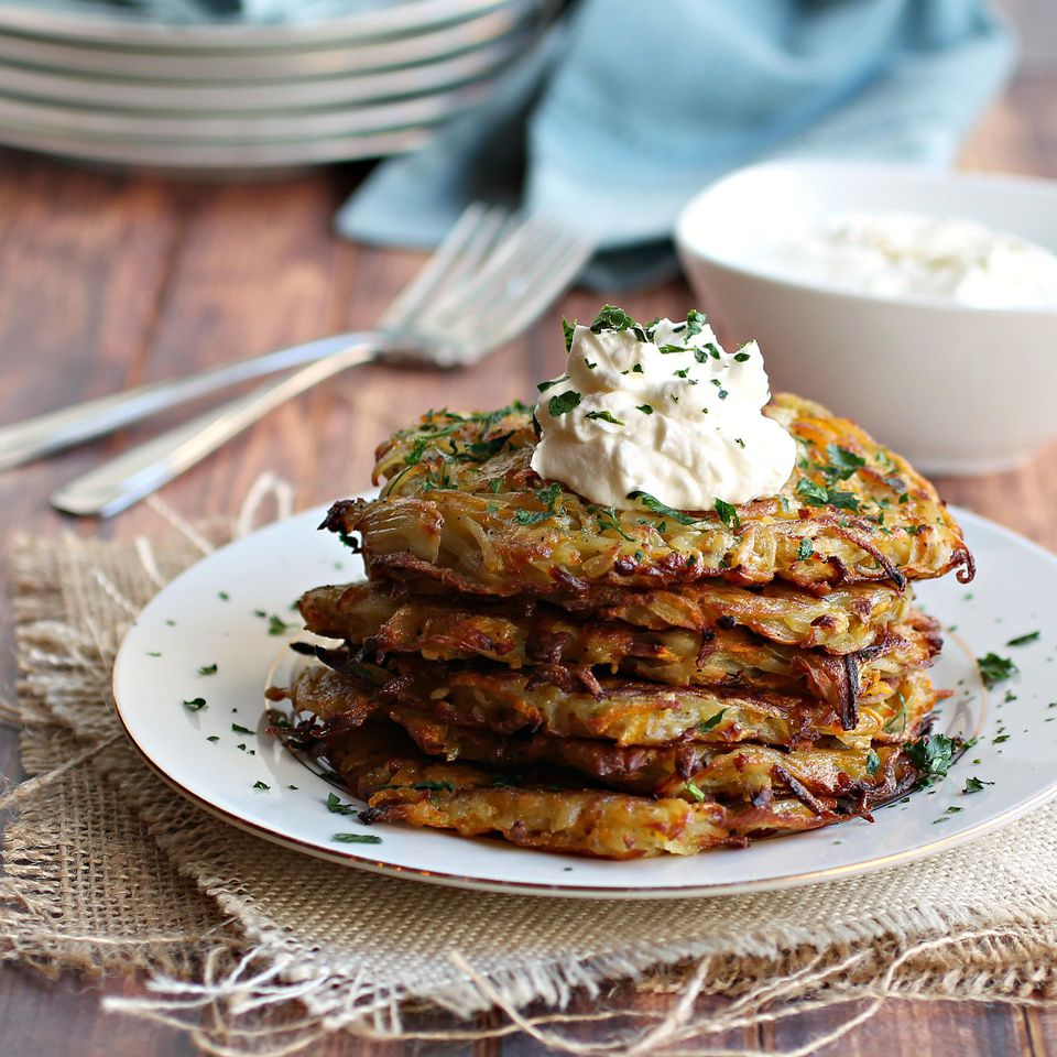 Potato and Butternut Squash Latkes