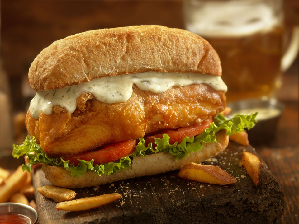 fish sandwich with Creole mayo