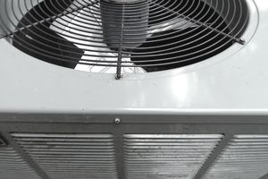 a close up of an air conditioning unit