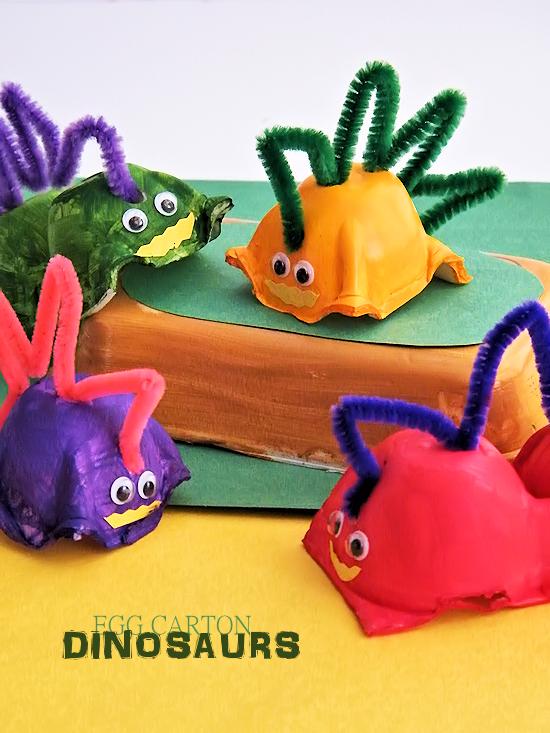 egg carton dinosaurs