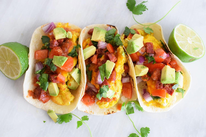 Chorizo and Avocado Breakfast Tacos