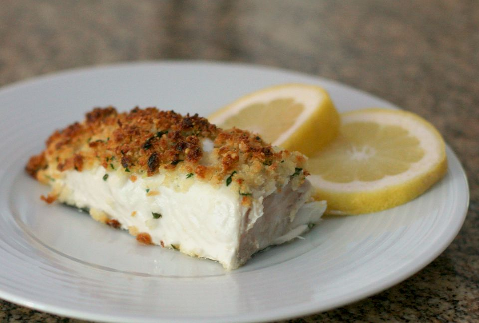 Baked halibut and parmesan crumb topping recipe for How to cook halibut fish