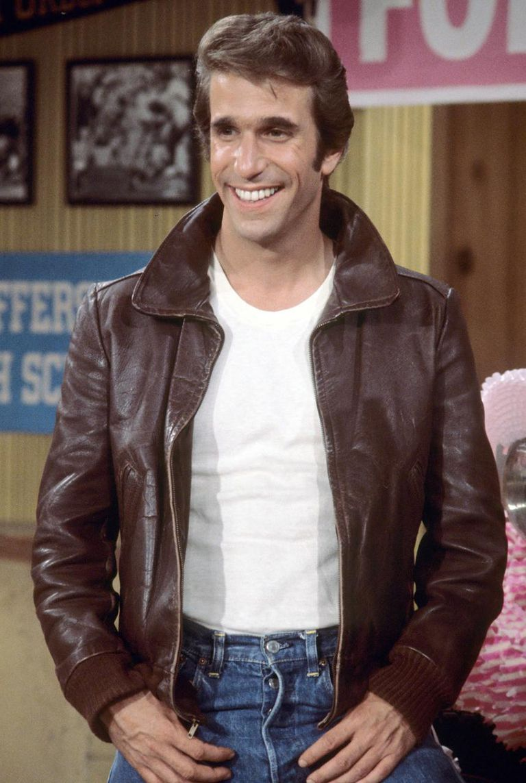 Henry Winkler, as Fonzie in 'Happy Days'