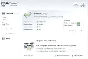 Screenshot of UnThreat AntiVirus in Windows 7
