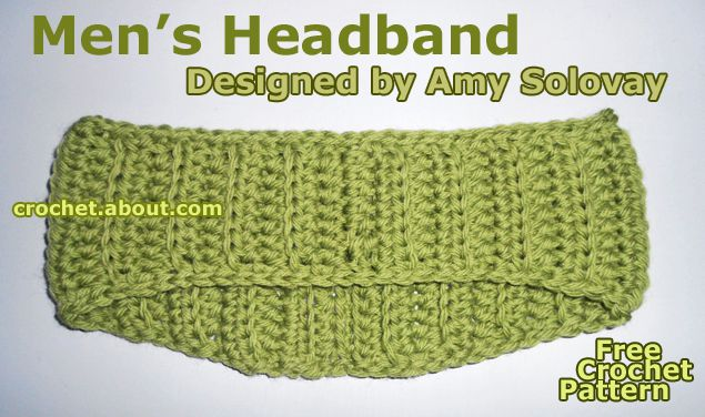 A Headband in Half Double Crochet Worked Through the Back Loops Only.
