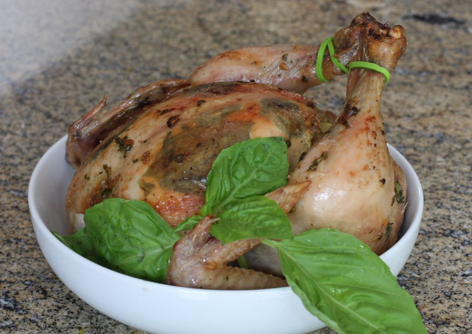 Roast Chicken With Garlic and Basil