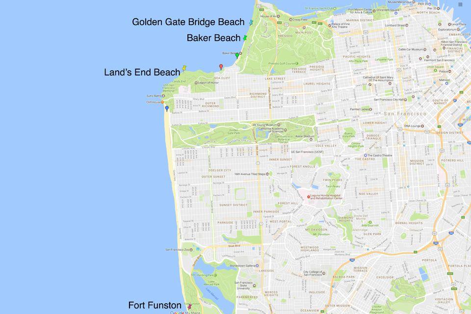 Golden Gate Bridge Nude Beach San Francisco