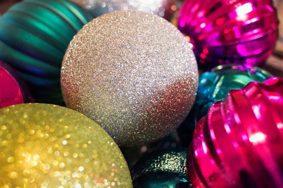 Full Frame Shot Of Christmas Ornaments