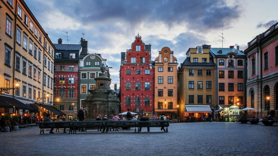 A plaza in Stockholm.