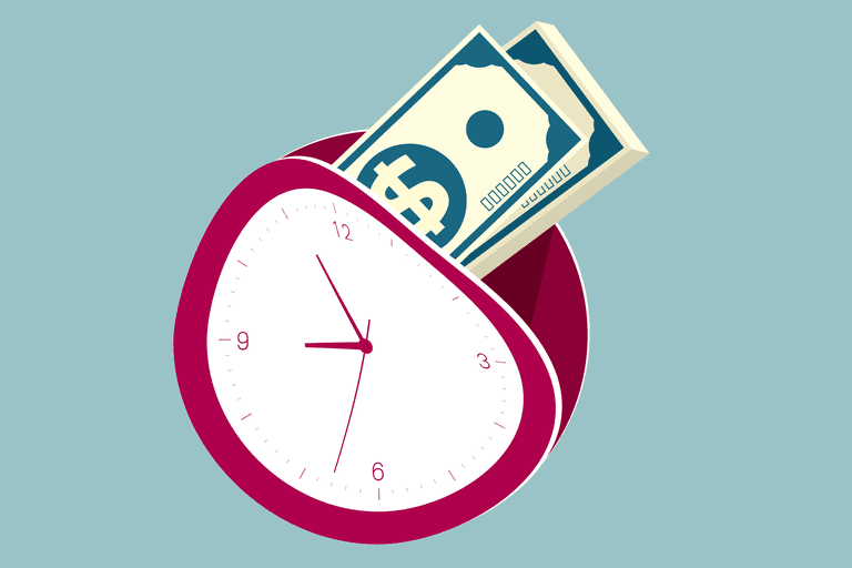 money and time concept