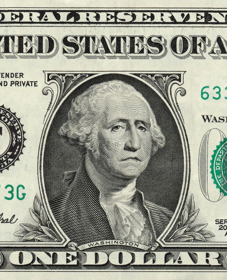 Billete de $1 para mostrar cómo detectar los billetes falsos