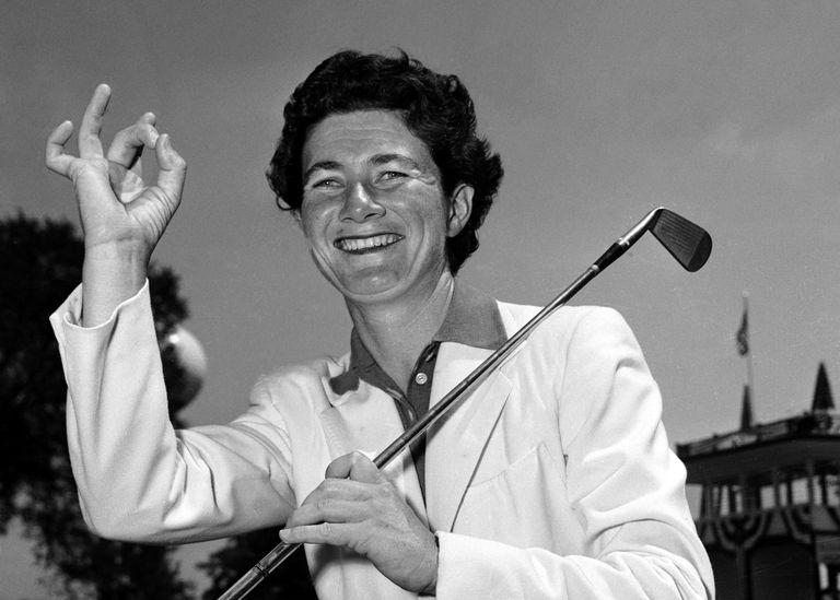 LPGA legend Louise Suggs pictured in 1952