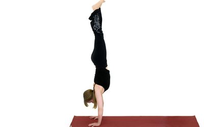 headstand yoga pose  salamba sirsasana
