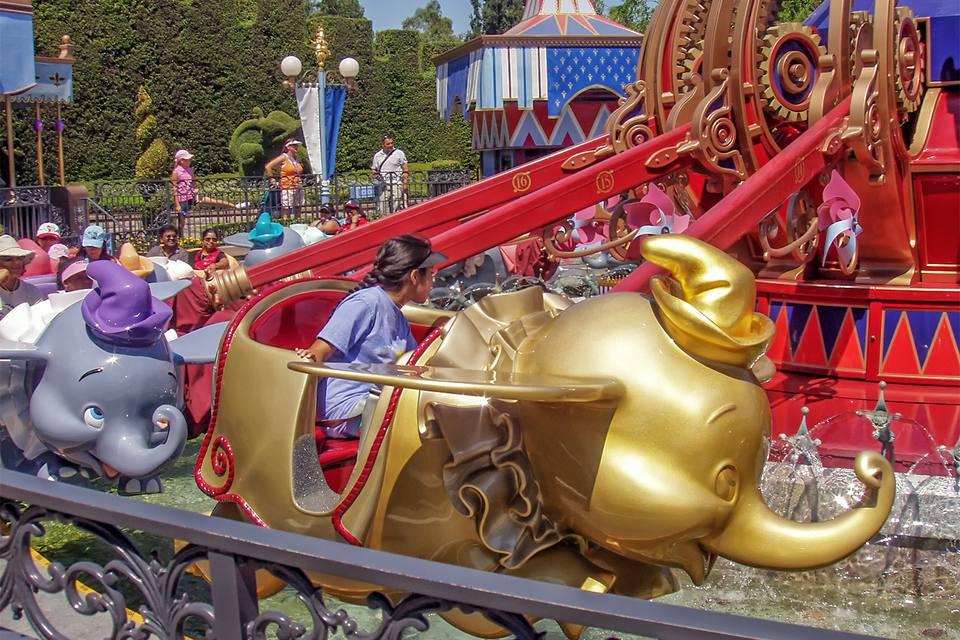 Dumbo the Flying Elephant Ride During Disneyland's 50th Anniversary