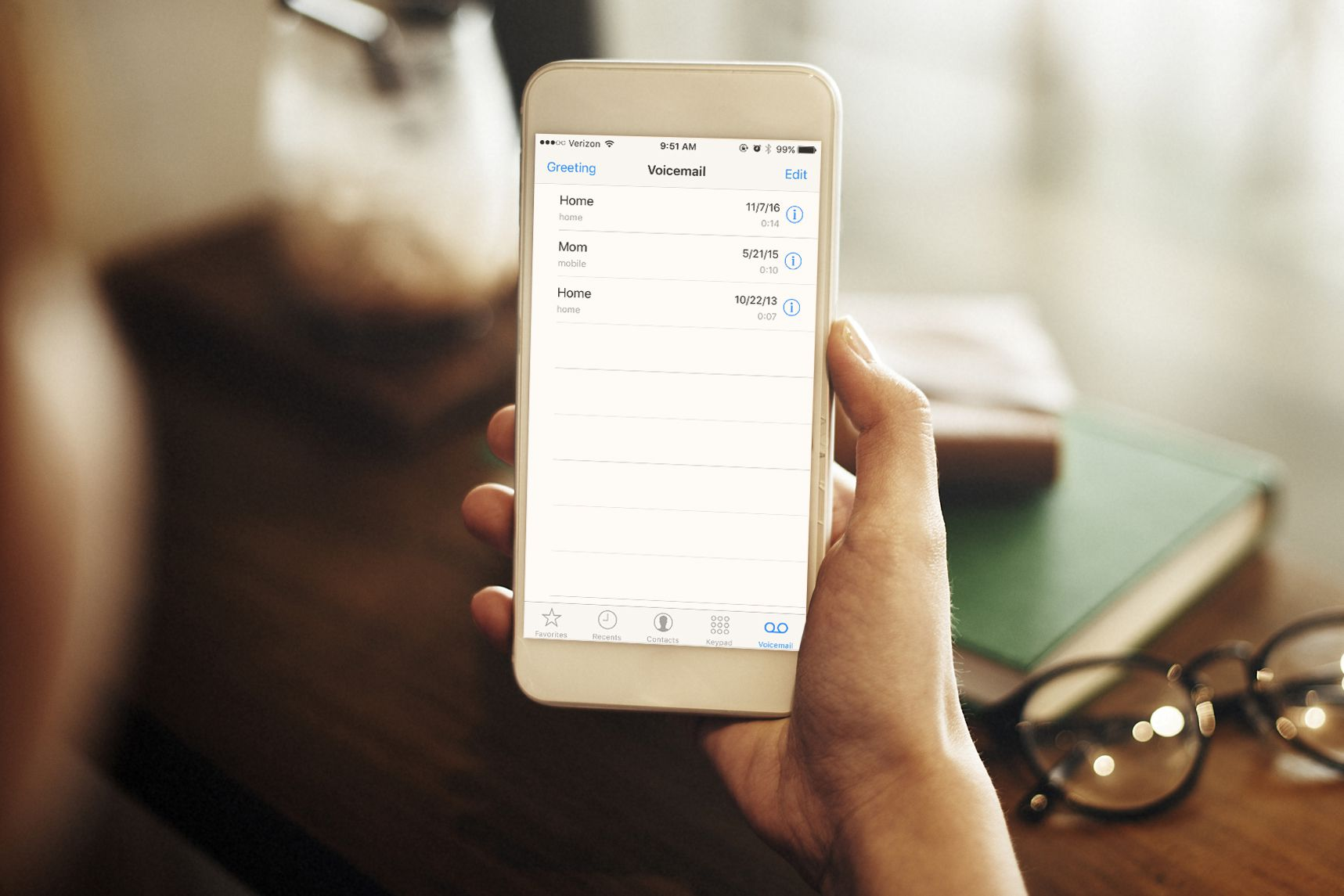 How to record an iphone voicemail greeting checking voicemail on iphone kristyandbryce Images