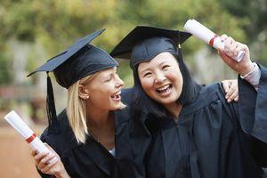 two female college graduates